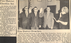 Swearing in 1971 to form District